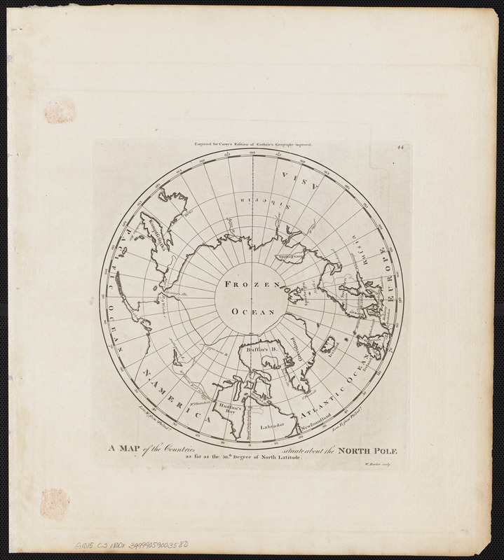 A map of the countries situate about the North Pole as far as the 50th. degree of north latitude