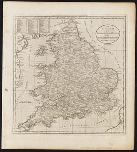 An accurate map of England and Wales with the principal roads from the best authorities