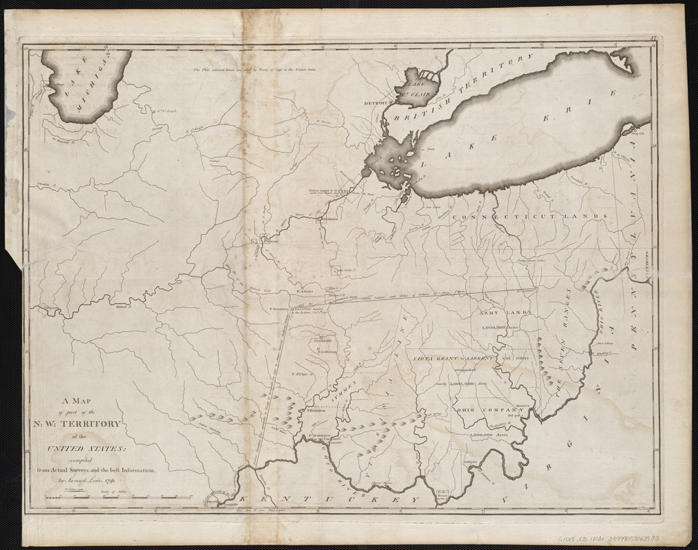 A map of part of the N:W: Territory of the United States