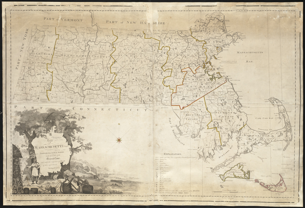 Map of Massachusetts proper