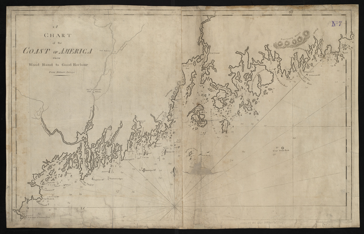 A chart of the Coast of America from Wood Island to Good Harbour from Hollands surveys