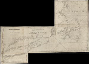 Chart from New York to Timber Island including Nantucket Shoals