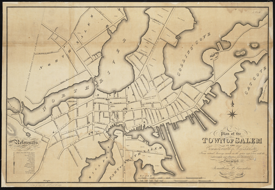 plan of the town of salem in the commonwealth of massachusetts