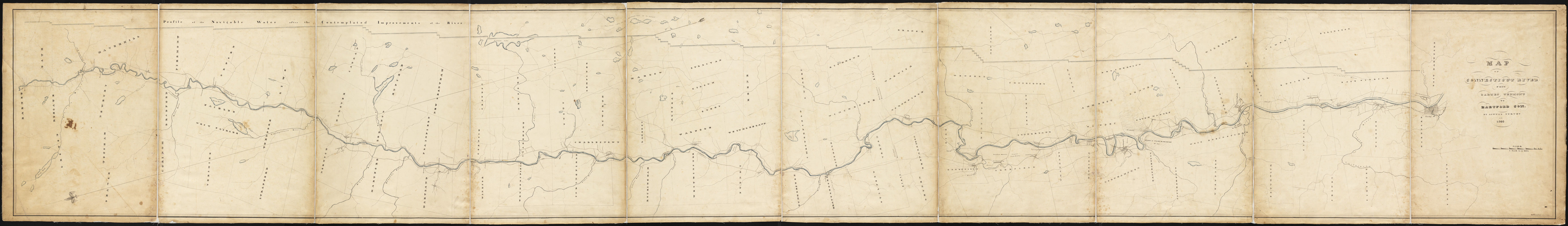 Map of Connecticut River from Barnet Vermont to Hartford Con