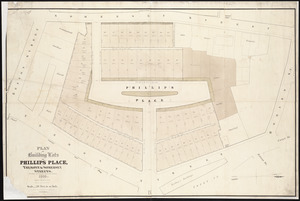 Plan of building lots on Phillips Place, Tremont & Somerset Streets