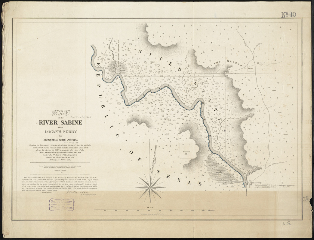 Map of the river Sabine from Logan's Ferry to 32nd degree of ... Sabine River Map on chattahoochee river map, wabash river map, united states river map, brazos river map, rio negro river on a map, ohio river map, guadalupe river map, bayou lafourche map, st. johns river map, calcasieu river map, colorado river map, dallas river map, trinity river map, pecos river map, galveston bay river map, tennessee river map, san joaquin river on a map, james river map, arkansas river map, willamette river map,