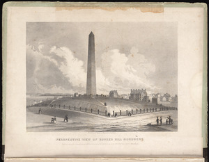 Perspective view of Bunker Hill Monument