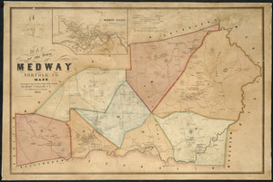 Map of the town of Medway, Norfolk Co., Mass