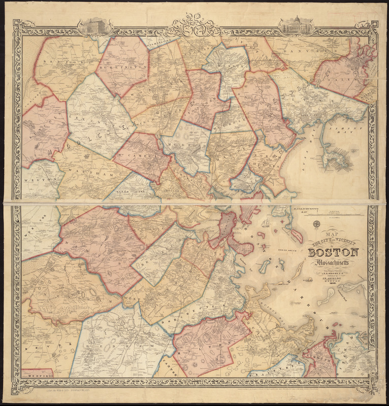 Map of the city and vicinity of Boston, Massachusetts