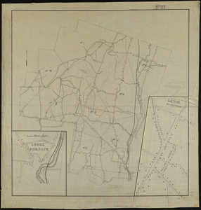 Map of the town of Lenox, Massachusetts