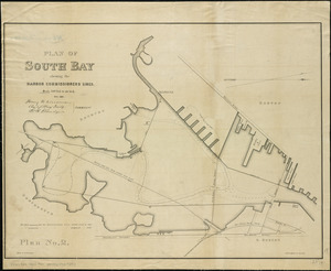 Plan of South Bay showing the Harbor Commissioners lines