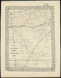 Township map of La Salle, Grundy, and Livingston Counties