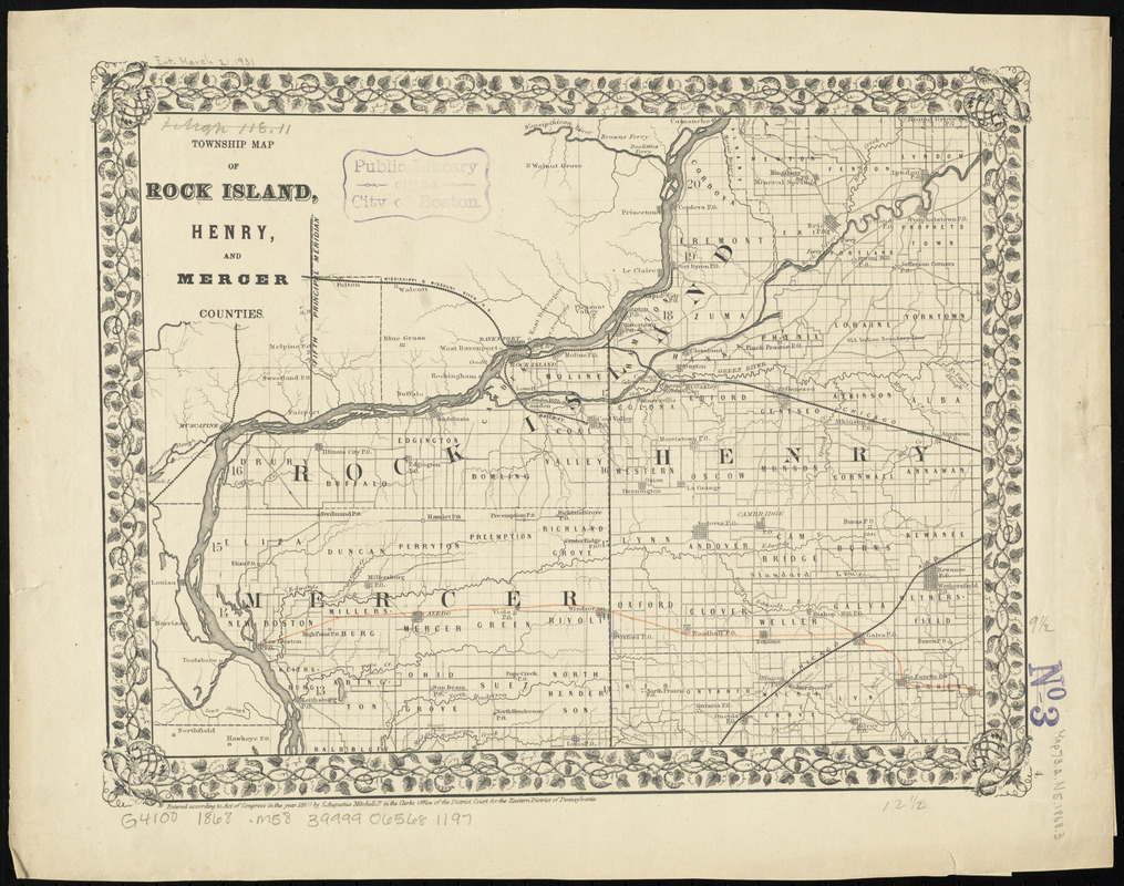 Township map of Rock Island, Henry, and Mercer Counties