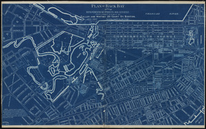 Plan of Back Bay showing improvements on streets and estates