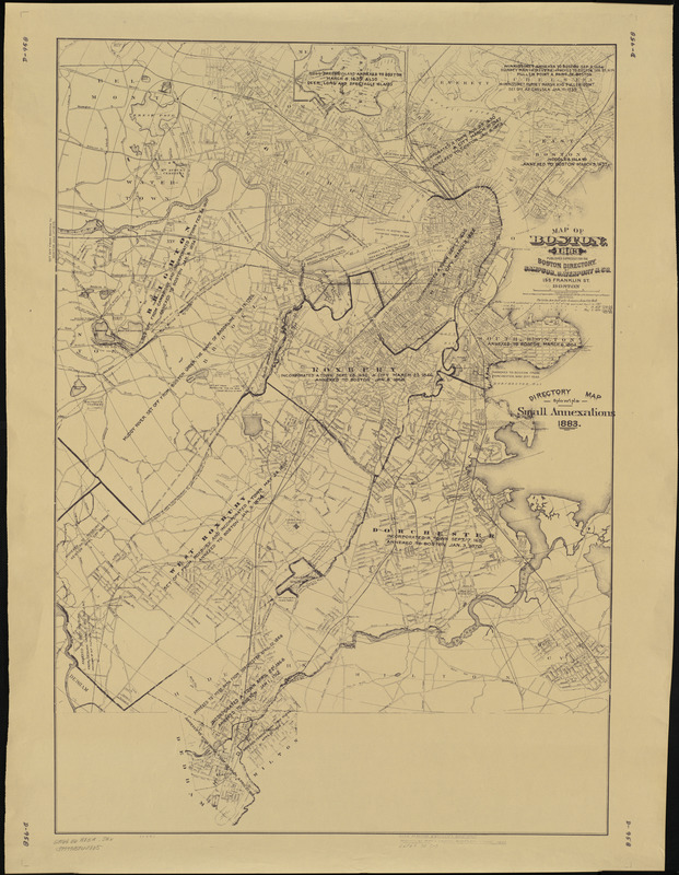 Map of Boston, for 1883