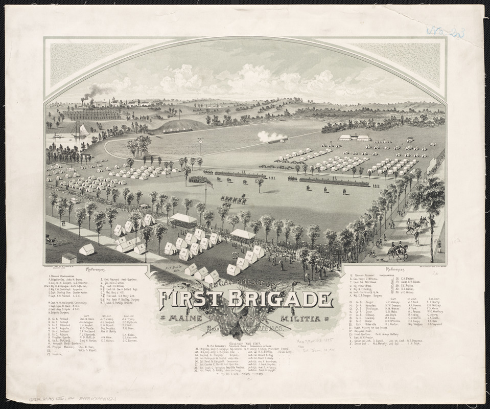 Encampment of First Brigade, Maine Volunteer Militia, Augusta, Aug.25, 26, 27, 28, 1885