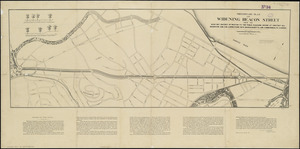 Preliminary plan for widening Beacon Street from the Back Bay district of Boston to the public pleasure ground at Chestnut Hill Reservoir and for connections with Massachusetts and Commonwealth Avenues