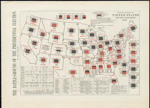 Political map of the United States and territories. 1888