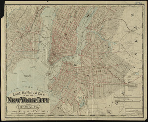 Rand McNally & Co.'s map of New York City, Brooklyn, Jersey City and vicinity
