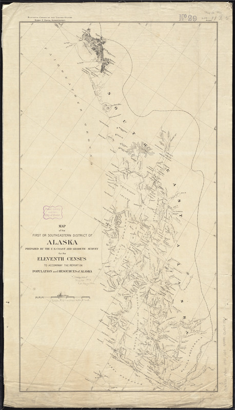 Map of the first or Southeastern district of Alaska