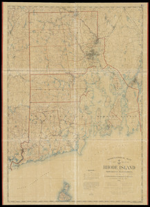 Topographical map of the state of Rhode Island and Providence plantations
