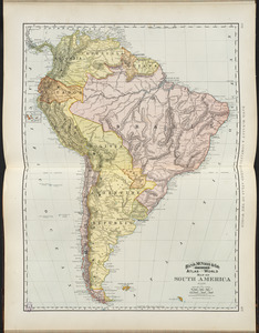 Rand, McNally & Co.'s indexed atlas of the world map of South America