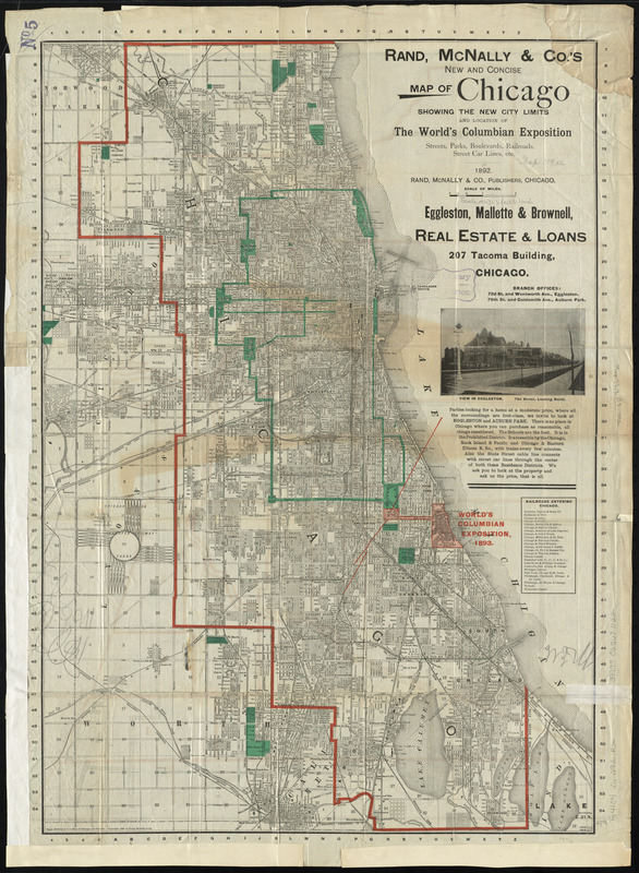 Rand, McNally & Co.'s new and concise map of Chicago