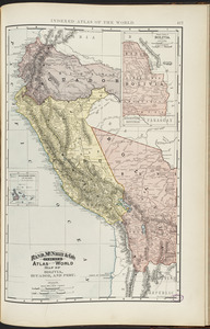 Rand, McNally & Co.'s indexed atlas of the world map of Bolivia, Ecuador, and Peru
