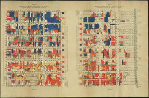 Nationalities map no. 1 - Polk Street to Twelfth, Halsted Street to Jefferson, Chicago ; Nationalities map no. 2 - Polk Street to Twelfth, Jefferson Street to Beach, Chicago