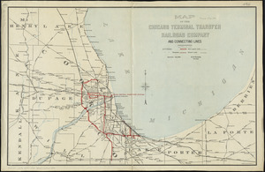 Map of the Chicago Terminal Transfer Railroad Company and connecting lines
