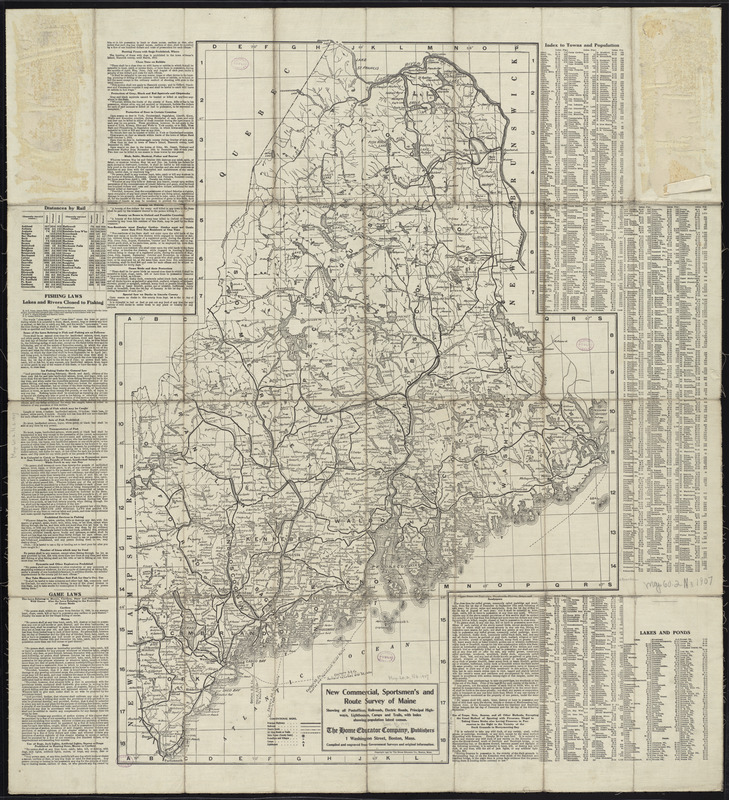 New commercial, sportsmen's and route survey of Maine