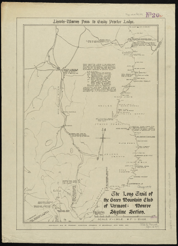 The Long Trail of the Green Mountain Club - Norman B. Leventhal Map ...
