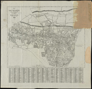 Map of the Oranges, and Irvington, New Jersey