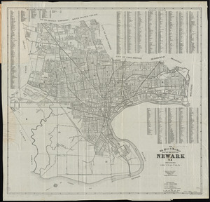 The Price & Lee Co's map of the City of Newark, N.J. including Irvington