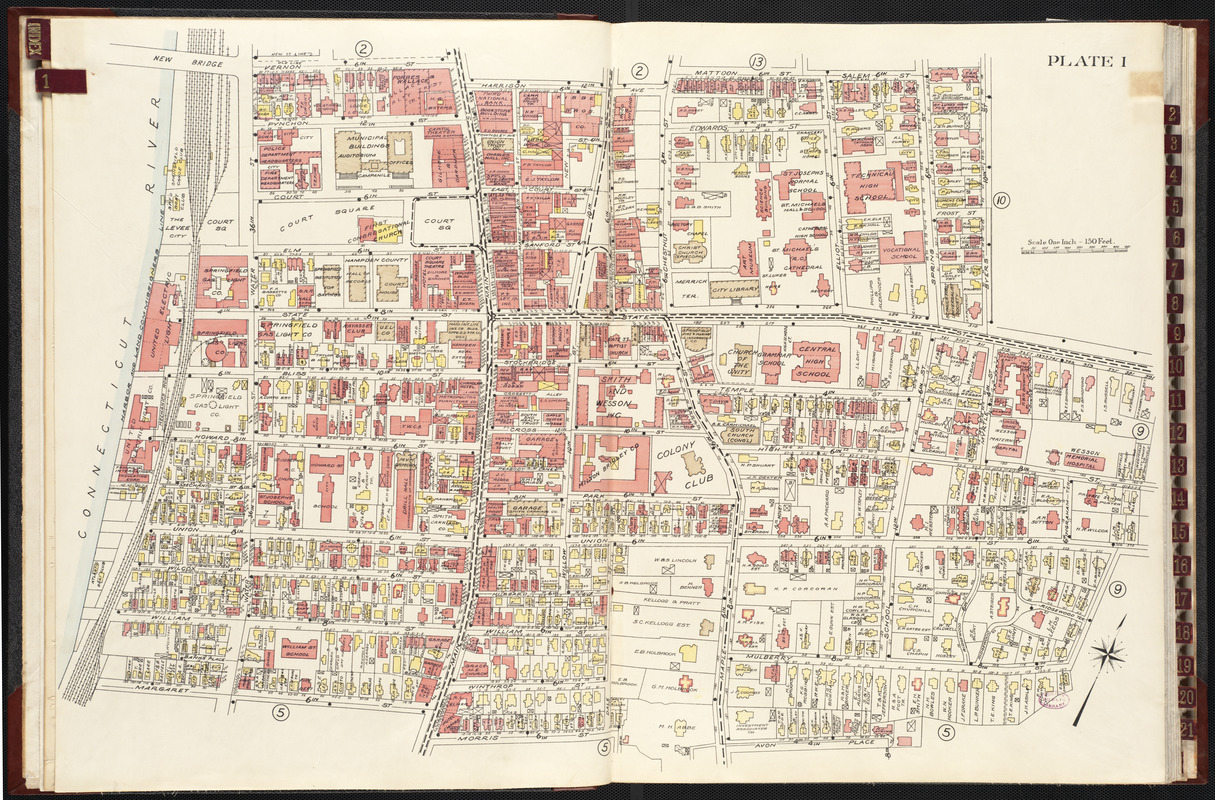 Richards standard atlas of the city of Springfield and the town of Longmeadow, Massachusetts [plate 1]