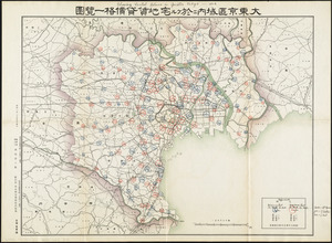 Showing rental values in greater Tokyo - 1926