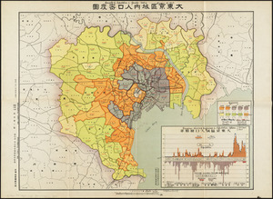 Density of population in greater Tokyo - census of 1926