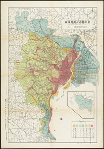 Zoning map of town-planning area of Tokyo - 1925