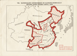 Nationalist government of Nanking - nominally ruling over entire China, 1930