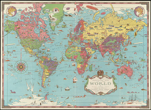 Mercator map of the world