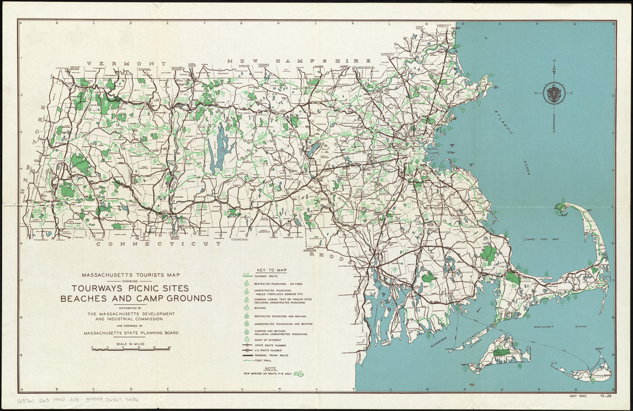 Massachusetts tourists map