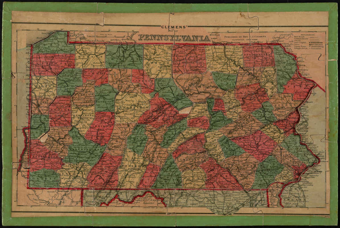 Clemens' map of Pennsylvania