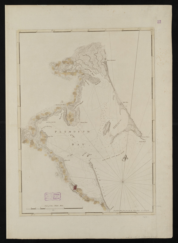 Chart of Plymouth Bay