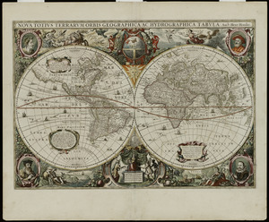 A New And Accvrat Map Of The World 1626.A New And Accurat Map Of The World Norman B Leventhal Map