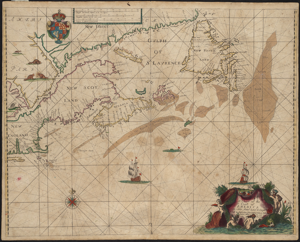A chart of the coast of America from New found Land to Cape Cod
