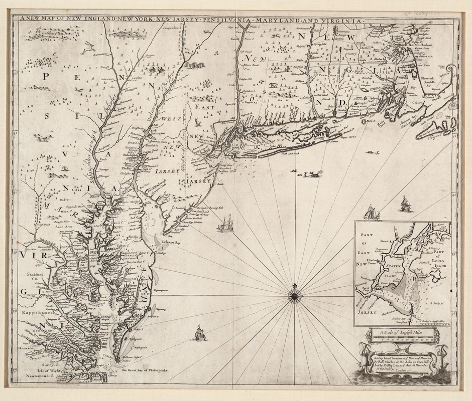 A new map of New England, New York, New Iarsey, Pensilvania, Maryland and Virginia