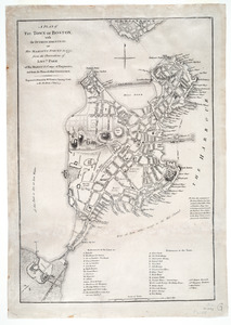 A plan of the town of Boston, with the intrenchments &c. of His Majestys forces in 1775
