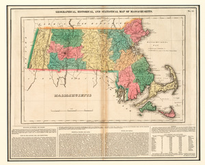 Geographical, historical, and statistical map of Massachusetts