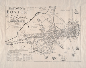 The town of Boston in New England