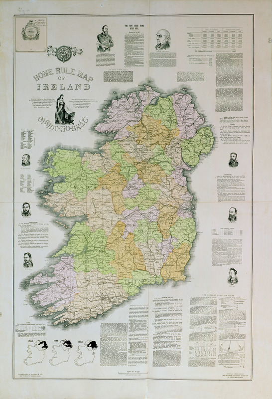 Home rule map of Ireland
